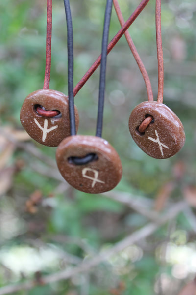 Rune stone necklace